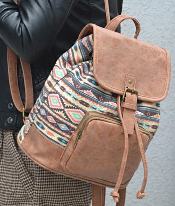 Tribal Pu Backpack-4