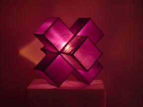 Silk Lamp cube small