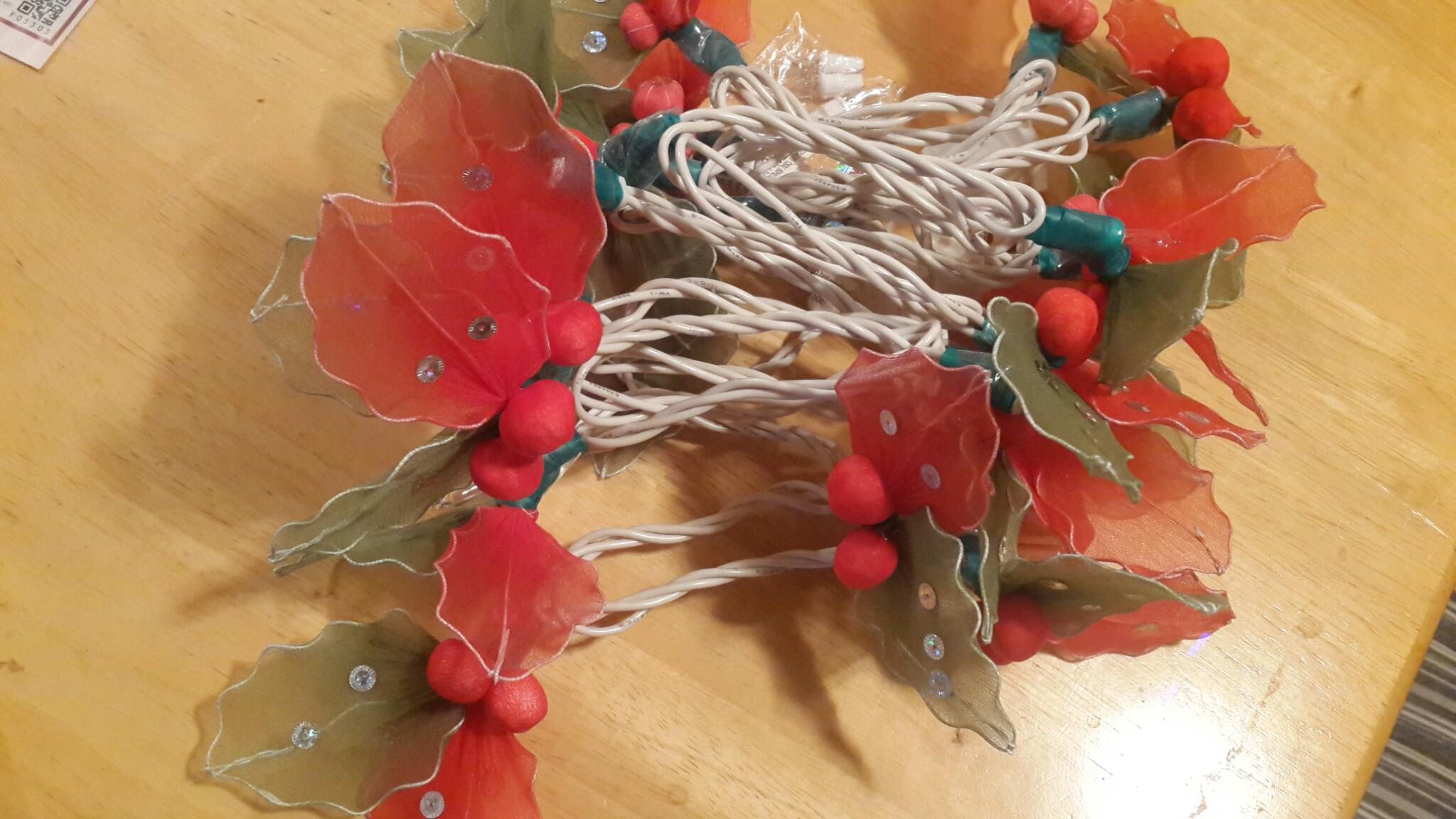 Nylon flower string lights-27