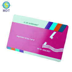 dt  plastic pvc RFID cards credit card size  white pvc card