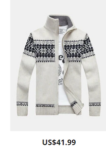 Mens Tribal Style Zipper Stand Collar Casual Knitted Sweater Cardigan
