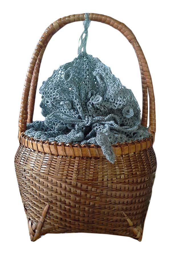 Bamboo handbag with lining PS-BB-774