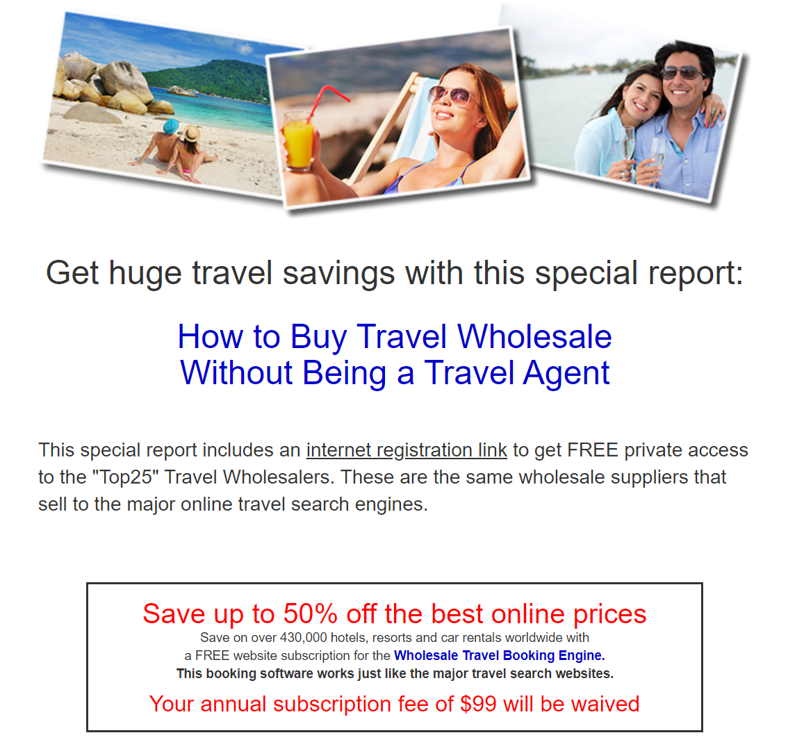 How To Buy Travel Wholesale Without Bein