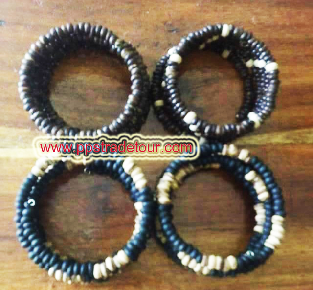 Coconut shell bead bracelet-5