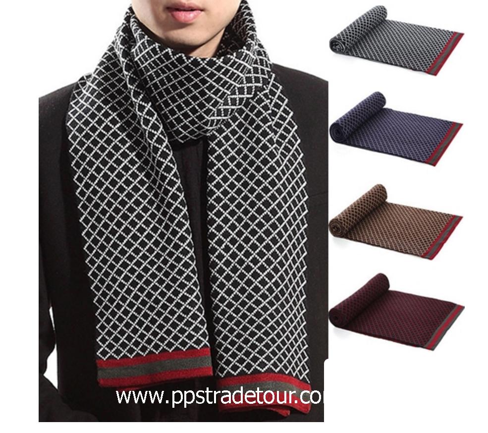 Knitting Wool Men Scarves-PS-SCF93