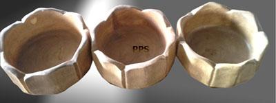 Flower shape bowl