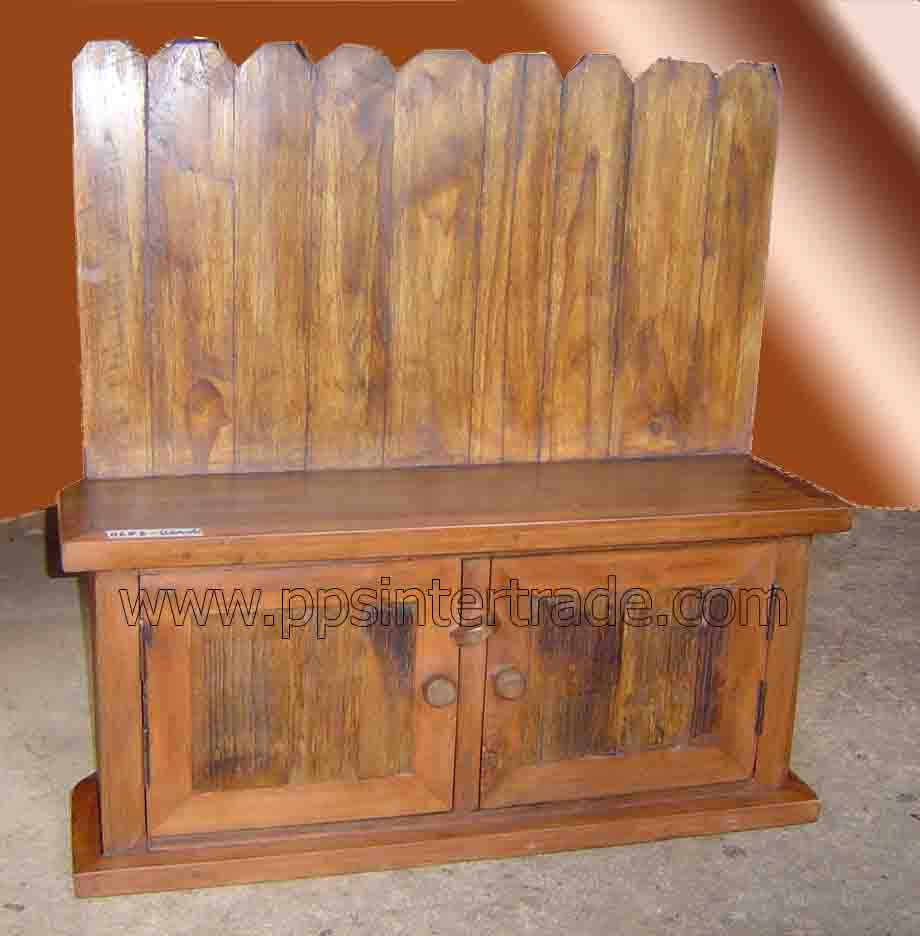 Teak and cabinet with taller back-6