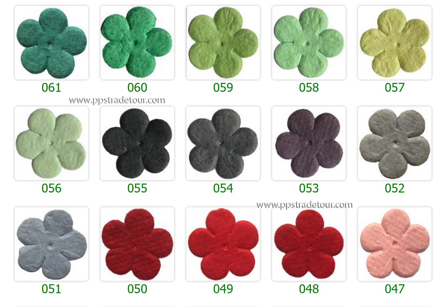 Mulberry Paper Flower Color Chart-5