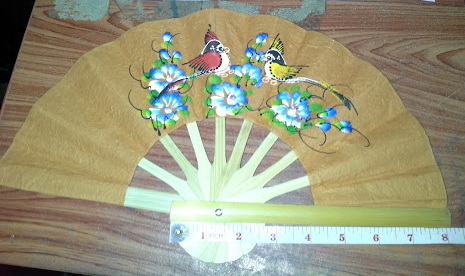 Mulberry Paper Hand Fan Paint-20