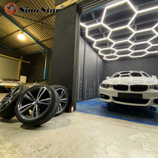 Factory sell use for car coating shop popular in Germany hexagon led panel light