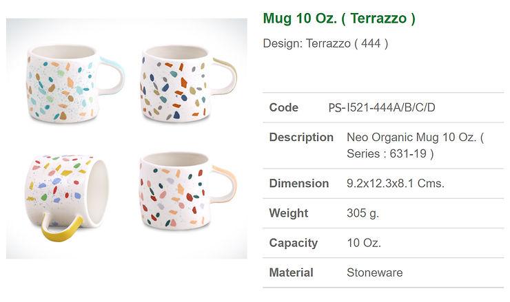 Ceramic Mug 10 Oz. Terrazzo