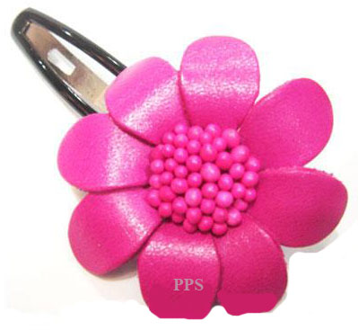 Leather Flower for hair Clip-g46