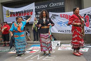 Stop Line 3 indigenous women protest.JPG