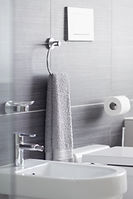 bathroom sanitized by UV lite and steam