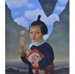 Naoko with potato chips