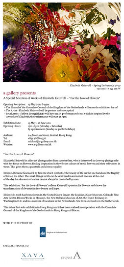 For the Love of Flowers - First Solo Exhibition of Elizabeth Kleinveld in Hong Kong
