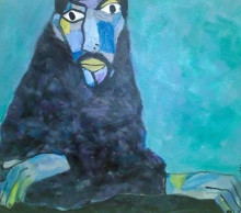 Self Portrait - Green Blue