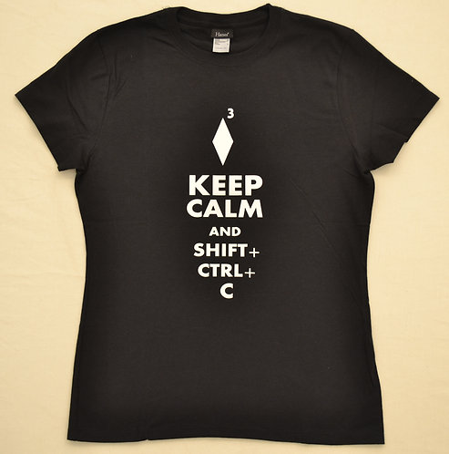 Keep calm & shift ctrl C t-shirt