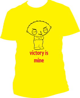 Stewie victory t-shirt