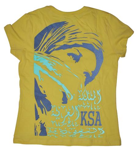 KSA woman t-shirt reflective