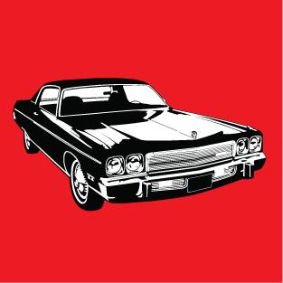 Classic muscle car t-shirt