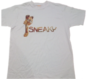 Garfield sneaky t-shirt