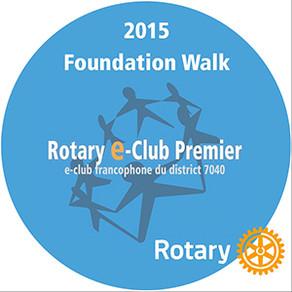Marche virtuelle pour la Fondation du Rotary