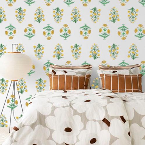 Indie Botanic Yellow wallpaper