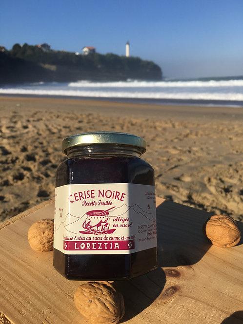 Confitures de cerise noire au sucre de canne et miel (300g)