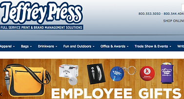 home page for JP promotional products