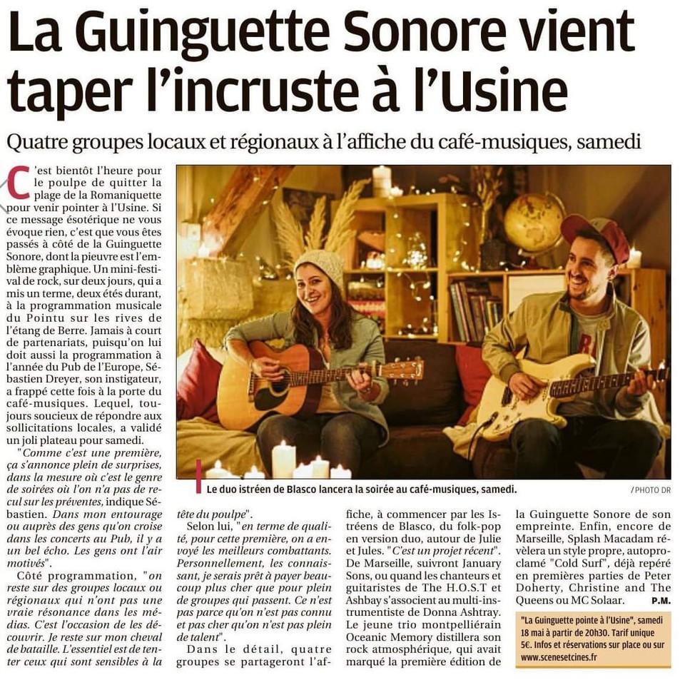 Journal La Provence 05/2019