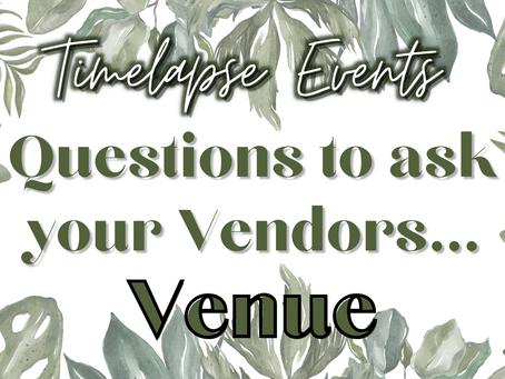 Questions to ask... Reception Venues