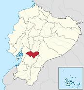 エクアドル、カニャールの地図