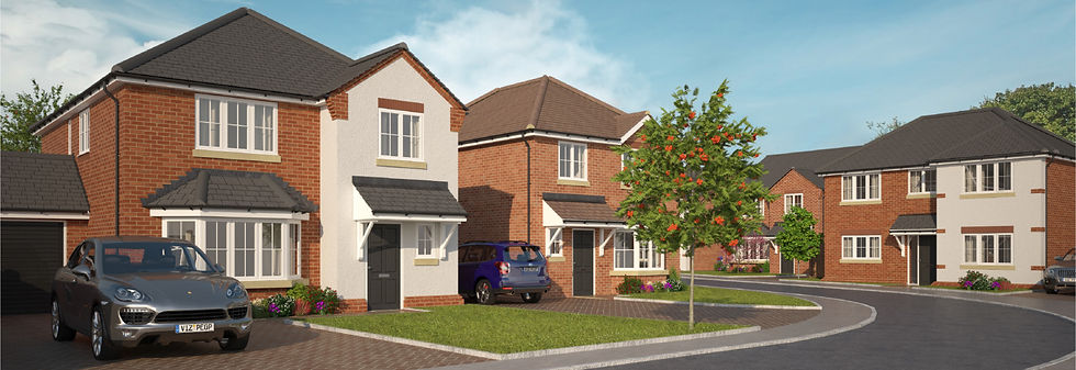 Eden Homes Holt CGI Street Scene Website
