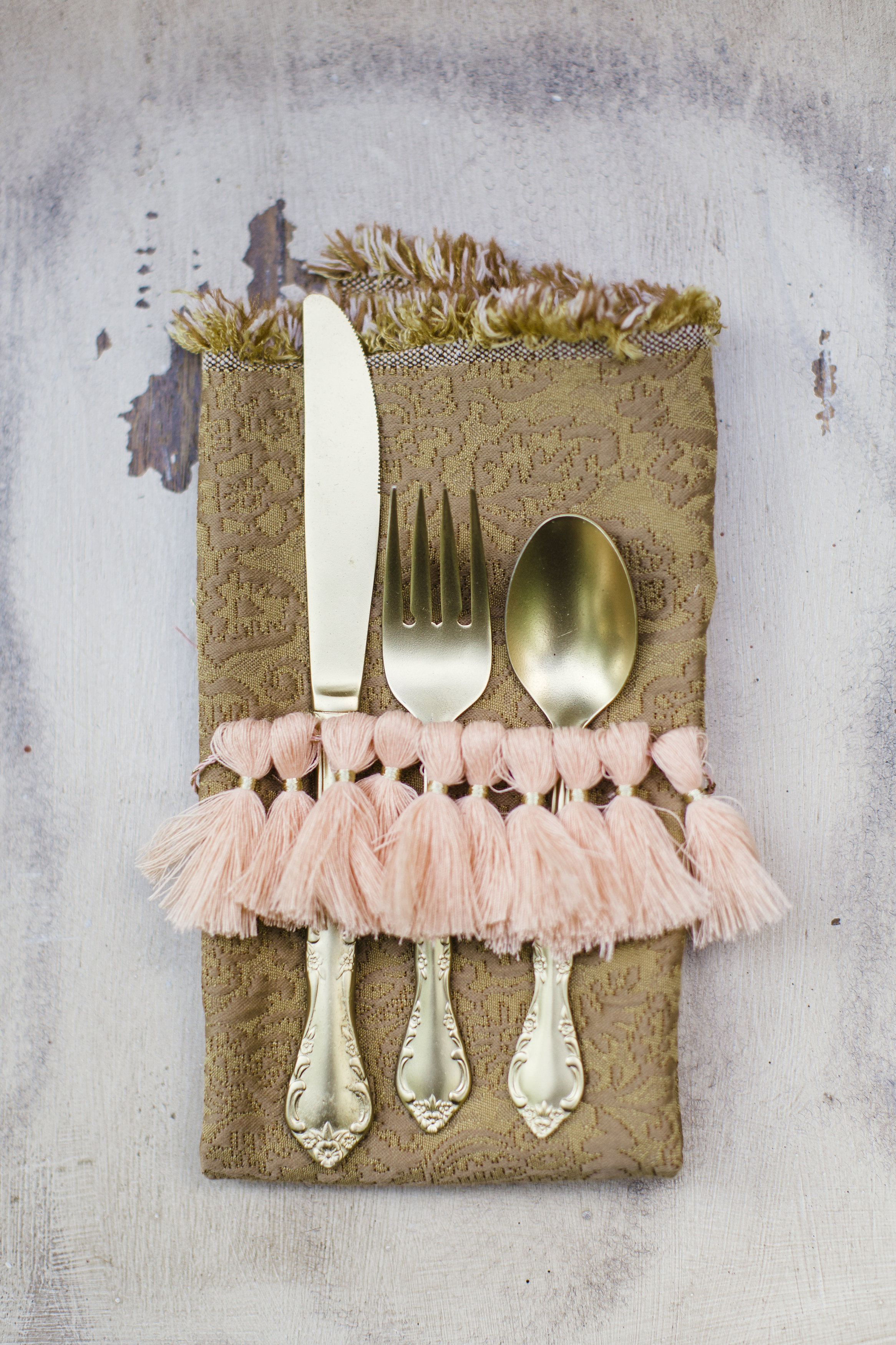 Bleached Butterfly Table Setting