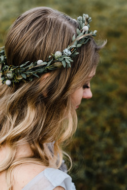 Bleached Butterfly Flower Crown