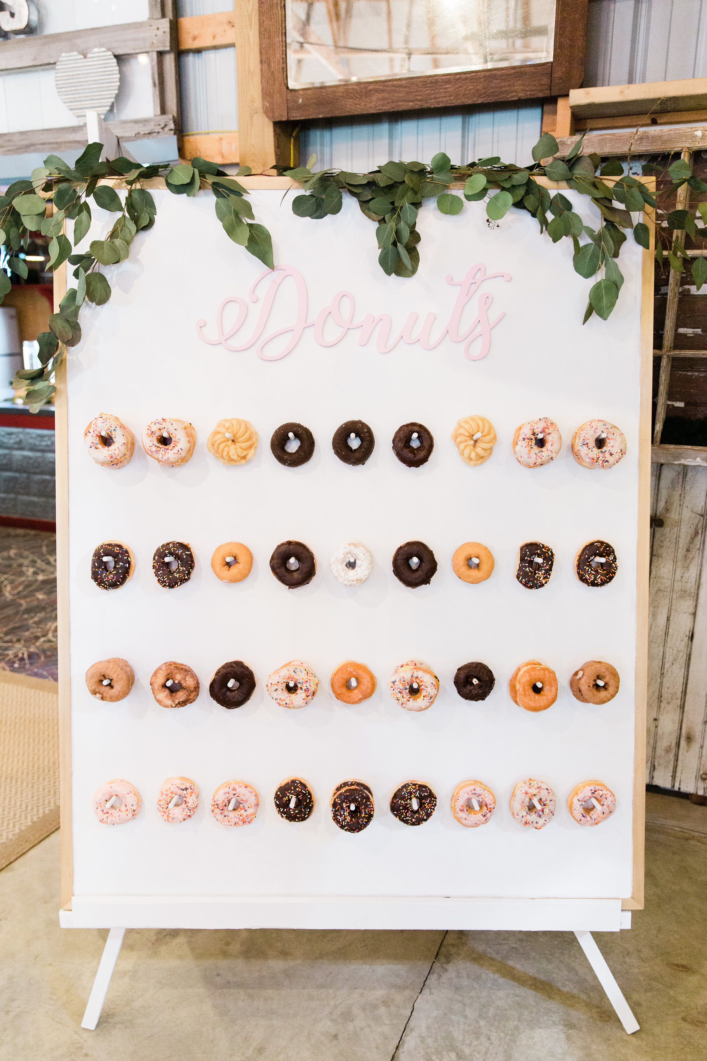 Bleached Butterfly Donut Wall