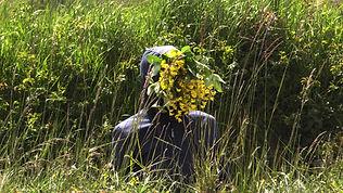 L'homme à la tête de fleurs©sophie lal