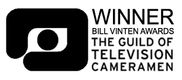 Winner of the Bill Vinten Award - Guilt o Television Cameramen
