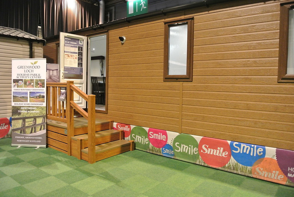 Greenwood Loch on Swift Moselle Lodge at #caravanshowsecc