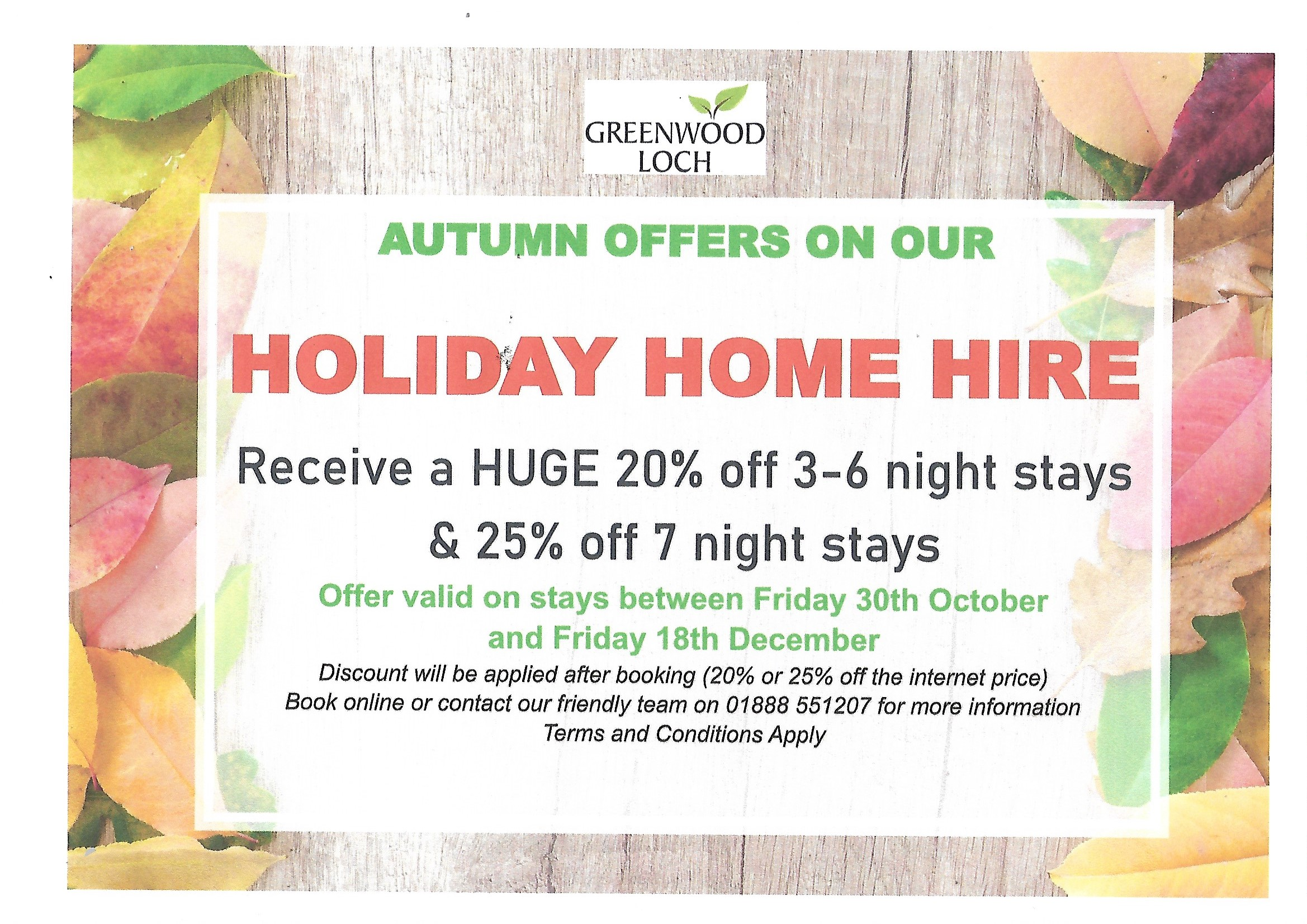 autumn offer update