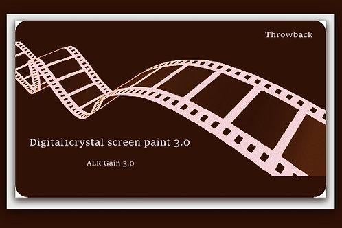 "THROWBACK 1QT Digital1crystal  screen paint 3.0 / 100"" - 120"" 16:9"