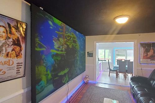 "ADV - ALR Acoustic signature 17 projection screen blackout cloth 150"" 16:9"