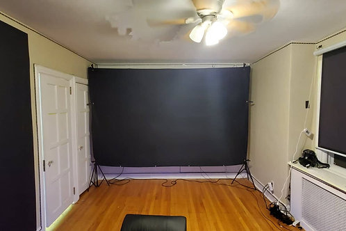 "ADV - ALR Acoustic 19 Phoenix gamer projector screen blackout cloth 150"""