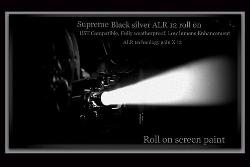 "1 GAL supreme black silver ALR 12 roll on screen size 100"" - 190"" 16:9"
