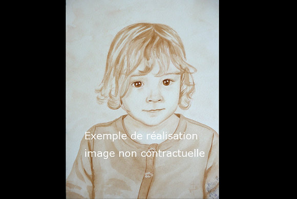 Portrait à l'aquarelle sur commande