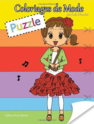 Coloriages de Mode Puzzle: avec Lola Chocolat