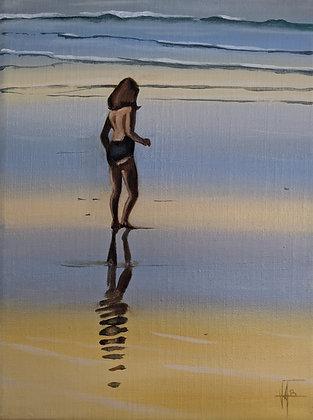Jeunes filles sur la plage