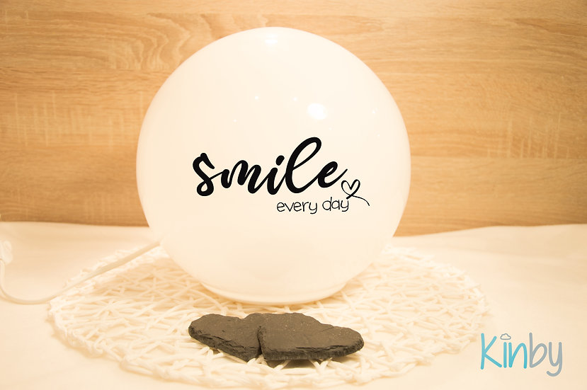 """Lampe """"Smile every day"""""""