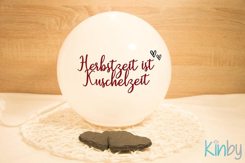 """Lampe """"Herbstzeit"""": Dunkelrot und Schwarz"""